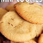 Mini Peanut Butter Chocolate Chip Cookies